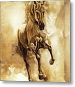 Baroque Horse Series IIi-ii Metal Print