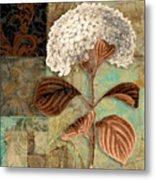 Baroque Hydrangea Patchwork Metal Print