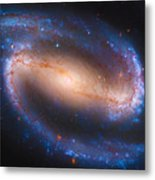 Barred Spiral Galaxy Ndc 1300 Metal Print