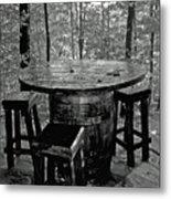 Barrel In The Woods Metal Print