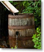 Barrel Of Water Metal Print