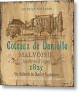 Barrel Wine Label 2 Metal Print