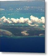 Barrier Island In Caribbean Metal Print