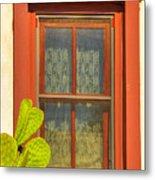 Barrio Window Metal Print