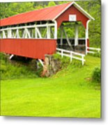 Barron's Covered Bridge Metal Print