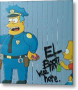 Bart Was Here Metal Print