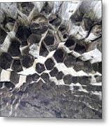 Basalt Rock Columns Formations Metal Print