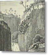 Basalt Rocks And The Cascade De Regla, Metal Print