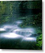 Base Of Waterfall Metal Print