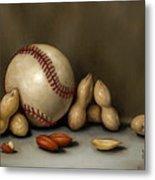 Baseball And Penuts Metal Print by Clinton Hobart
