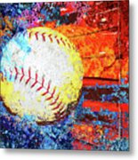 Baseball Art Version 6 Metal Print