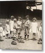 Baseball: Boys And Girls Metal Print by Granger