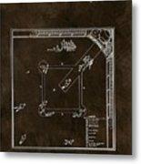 Baseball Game Patent Metal Print