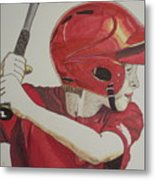 Baseball Ready 2 Metal Print