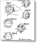 Baseball Training Device Patent 1961 Metal Print