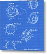 Baseball Training Device Patent 1961 Blueprint Metal Print