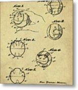 Baseball Training Device Patent 1961 Sepia Metal Print