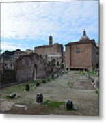 Basilica Aemilia From Behind Metal Print