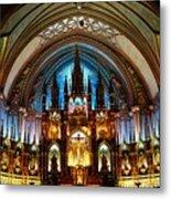 Notre - Dame Basilica - Montreal Metal Print