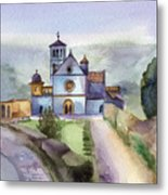 Basilica Of St Francis  Assisi Metal Print by Lydia Irving