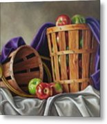 Basket And Horn Metal Print