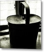 Basket By The Window Metal Print