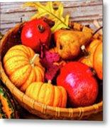 Basket Full Of Autumn Metal Print