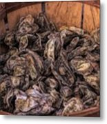 Basket Full Of Oysters Metal Print