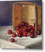 Basket Of Cherries Metal Print