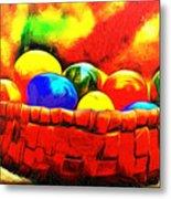 Basket Of Eggs - Pa Metal Print