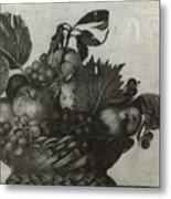 Basket Of Fruit Metal Print
