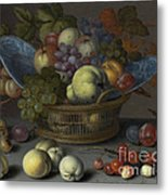 Basket Of Fruits Metal Print