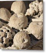 Basket Of Marble Fruit In Venice Metal Print