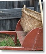 Basket On Route Metal Print