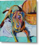 Basket Retriever Metal Print