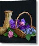Basket With Astern Metal Print