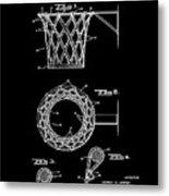 Basketball Net Patent 1951 In Black Metal Print
