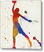 Basketball Player Paint Splatter Metal Print