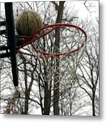 Basketball Practice Metal Print