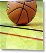 Basketball Reflections Metal Print by Alan Look