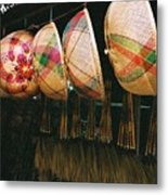 Baskets And Brooms Metal Print