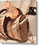 Baskets With Crock I Metal Print by Tom Mc Nemar