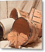 Baskets With Crock II Metal Print