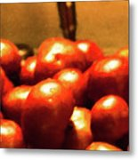 Basket Of Tomatoes M1 3309t2 - Photo Art Metal Print