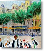 Basque Country Dancing Metal Print