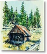 Basque Oven - Russell Valley Metal Print