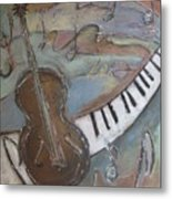 Bass And  Keys Metal Print