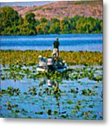 Bass Fishing Metal Print