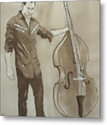 Bass Man Metal Print