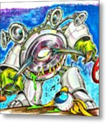 Bass Monster Metal Print